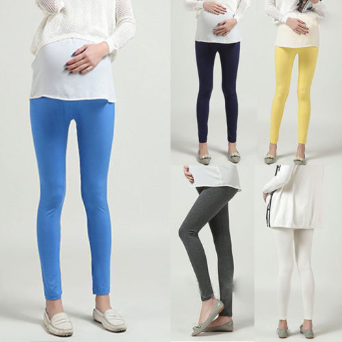 Pregnant Women Ladies Fashion Colorful Thick Comfortable Warmer Leggings Maternity Pants Capris