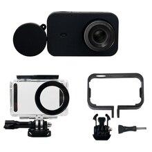 6 в 1 комплект аксессуаров для камеры, водостойкий Чехол + Боковая защитная рамка + силиконовый чехол + крышка объектива для Xiaomi mi Jia mi ni 4 К Cam