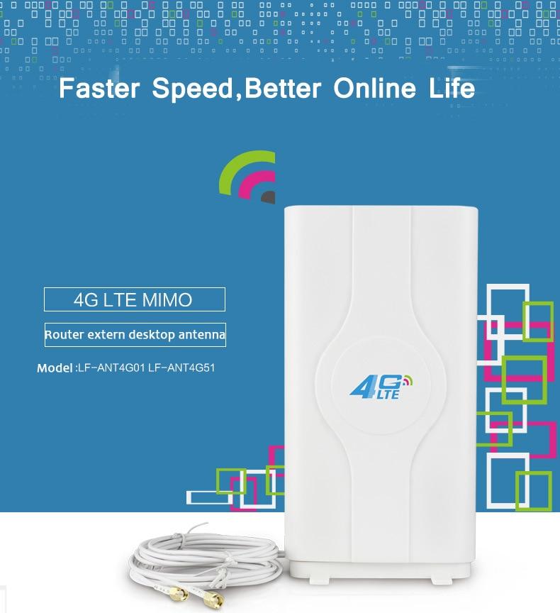Antenne Wifi 4G LTE 88 dBi TS9 CRC9 SMA connecteur routeur externe antenne MIMO maison avec câbles 2*2 m pour Modem routeur Huawei