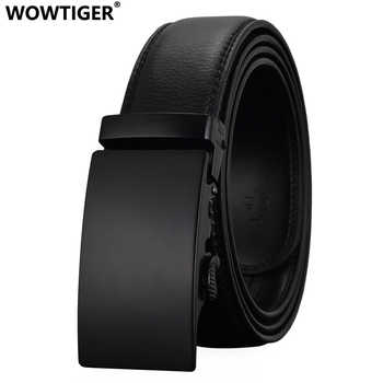 WOWTIGER Fashion Designers Men Automatic Buckle Leather luxury Belt Business Male Alloy buckle Belts for Men Ceinture Homme - DISCOUNT ITEM  48% OFF All Category