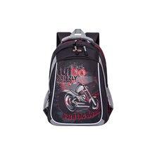 Рюкзак школьный Grizzly, чёрный/серый