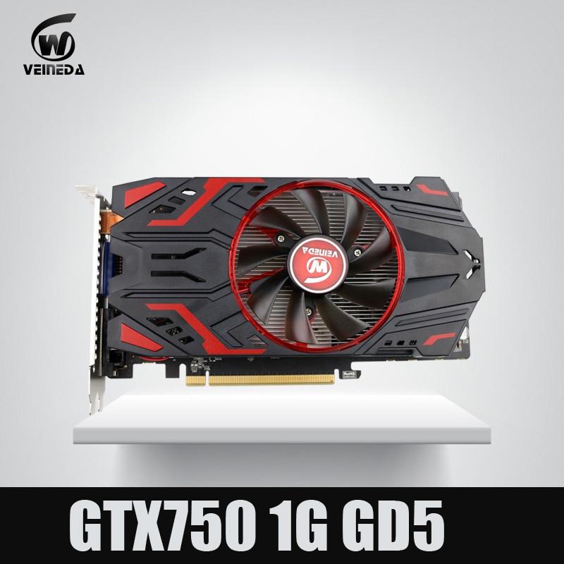 Veineda видео карта 100% оригинал GPU GTX750 1 ГБ GDDR5 графическая карта мгновенно убить GTX650Ti, HD6850, R7 350 для nVIDIA Geforce игры