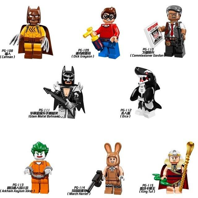 Coringa Batman Superhero Rei Tut Dick Grayson Bonecas Legoing Blocos Educação Toy Figuras de Ação para Crianças Tijolo