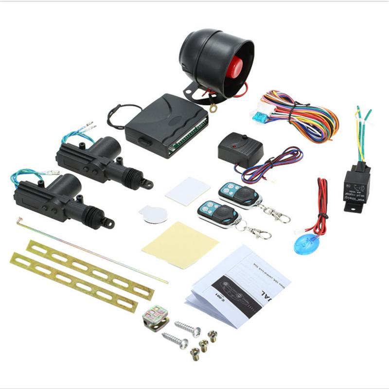 Serrure de porte centrale à distance de voiture système de contrôle sans clé systèmes d'alarme automatique verrouillage avec support automatique accessoires de Kit Central à distance