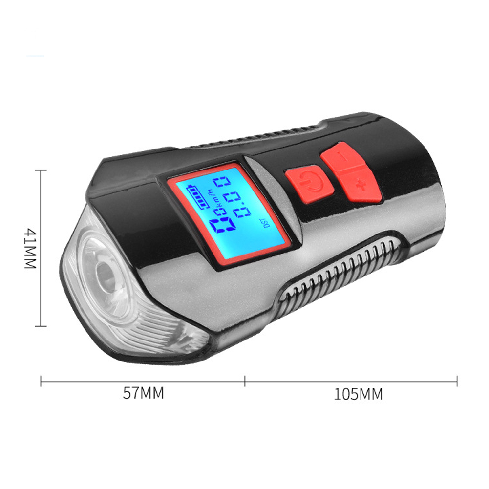 Outdoor USB Rechargeable Mountain Bike Horn Bicycle Bell Speakers Music Players