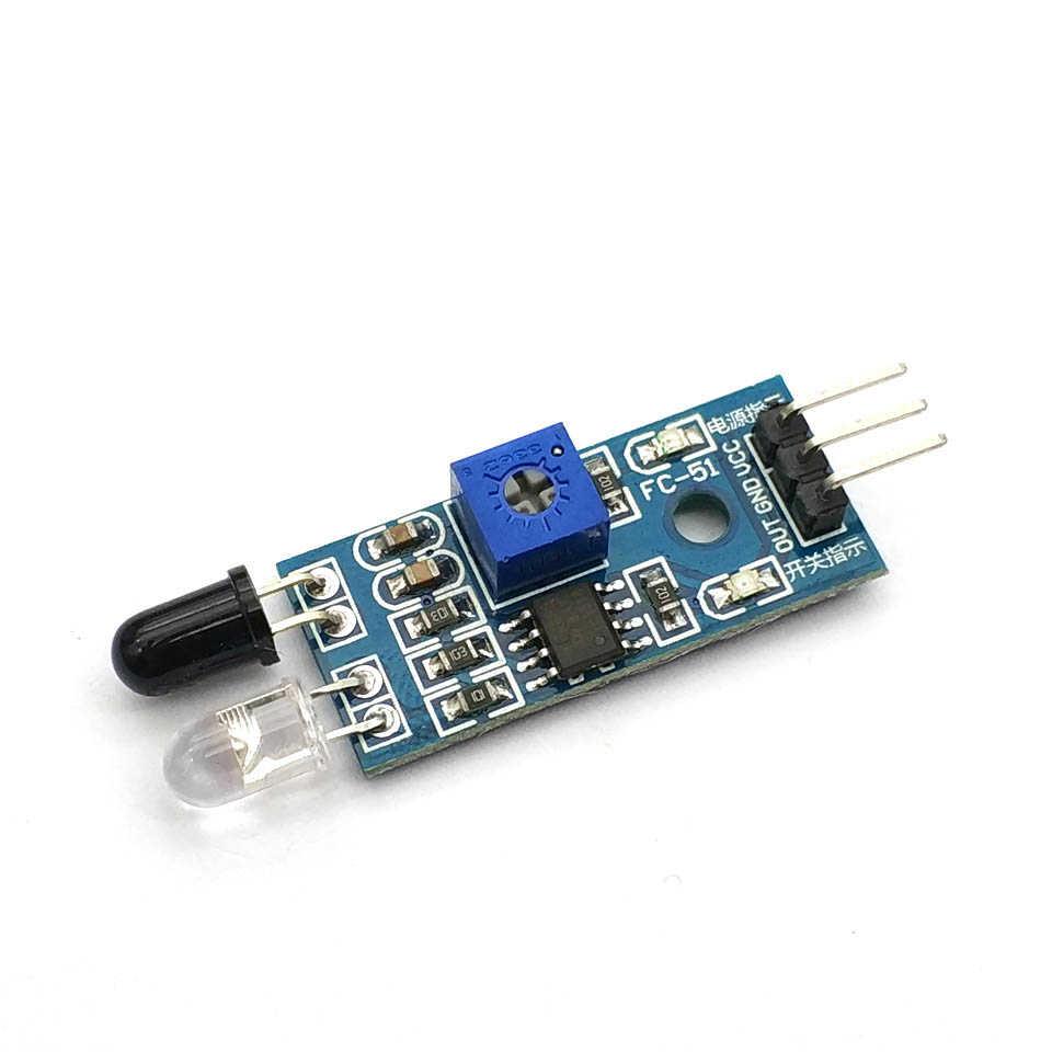 إلكترونيات ذكية جديدة لسيارة اردوينو ذاتية الصنع روبوت عاكس كهروضوئي 3pin IR وحدة مستشعر تجنب العوائق بالأشعة تحت الحمراء