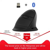 Delux M618 Mini Bluetooth Mouse Wireless Vertical Ergonomic Mause Rechargeable 6D Optical Computer Gaming Mice With RGB Backlit