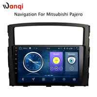 9 inch Android 8.1 car dvd gps navigation For Mitsubishi Pajero 2006 2011 multimedia radio system