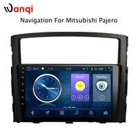 9 inch Android 8.1 car dvd gps navigation For Mitsubishi Pajero 2006 2011 multimedia radio system