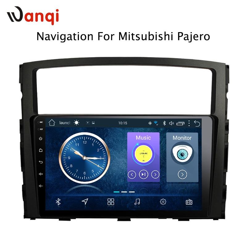9 pouces Android 8.1 voiture dvd gps navigation pour Mitsubishi Pajero 2006-2011 système de radio multimédia