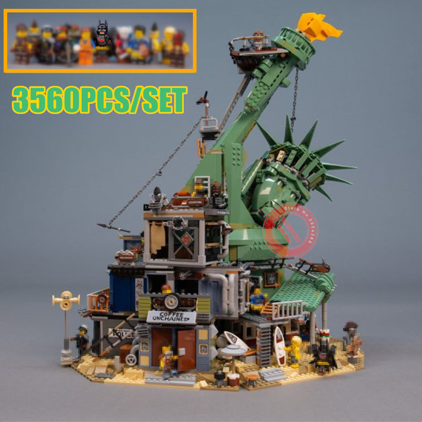 New 3560pcs Movie Welcome to APOCALYPSEBURG fit legoings city technic Building Block Bricks Kid Toys Christmas Gift SY1276 45014New 3560pcs Movie Welcome to APOCALYPSEBURG fit legoings city technic Building Block Bricks Kid Toys Christmas Gift SY1276 45014