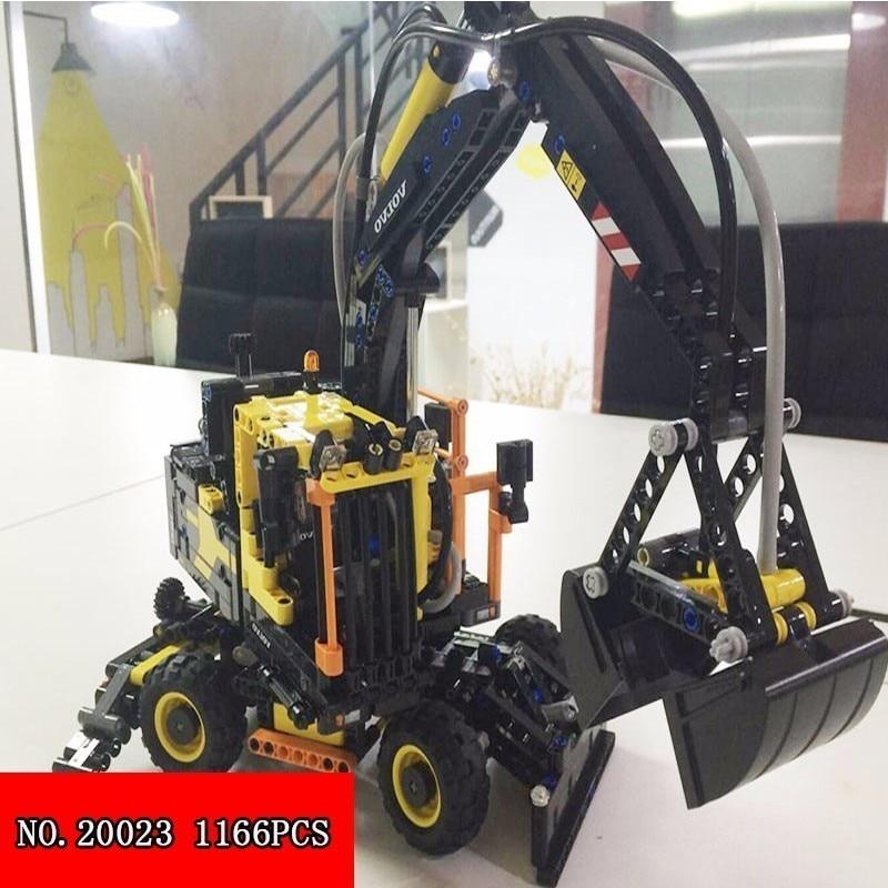 Lepin Technique Science 20023 Mécanique Groupe Une Pelle de Construction Pour Enfants Jouets Alpinia Assemblage Camion blocs de construction 1166 pièces