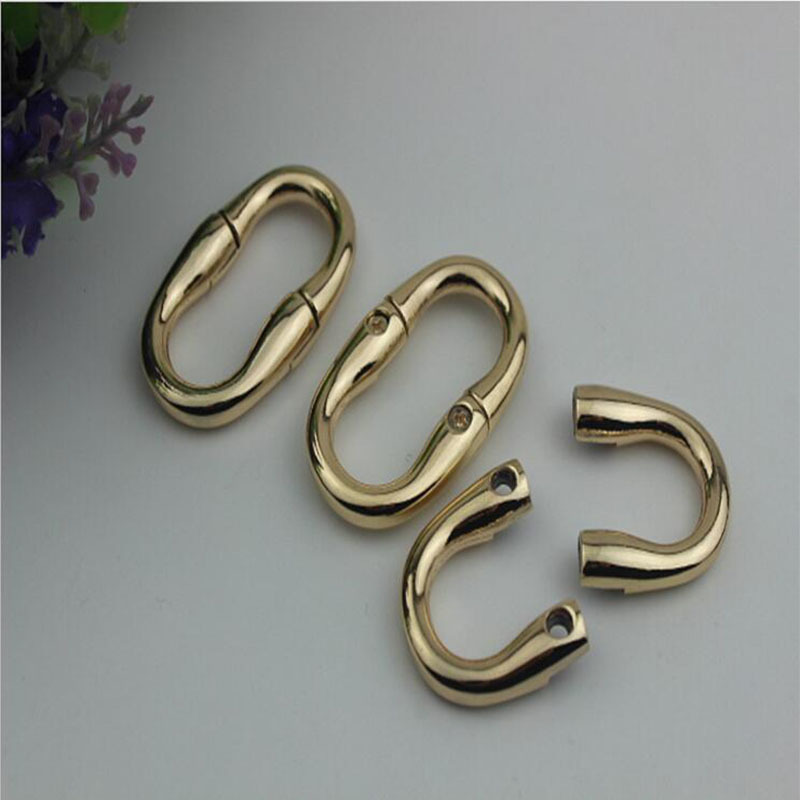 10pcs/lot Luggage Hardware Accessories Removable Screws Ring Buckle Luggage & Bags Word Buckle Metal Hooks Oval Purse Feets Hanger