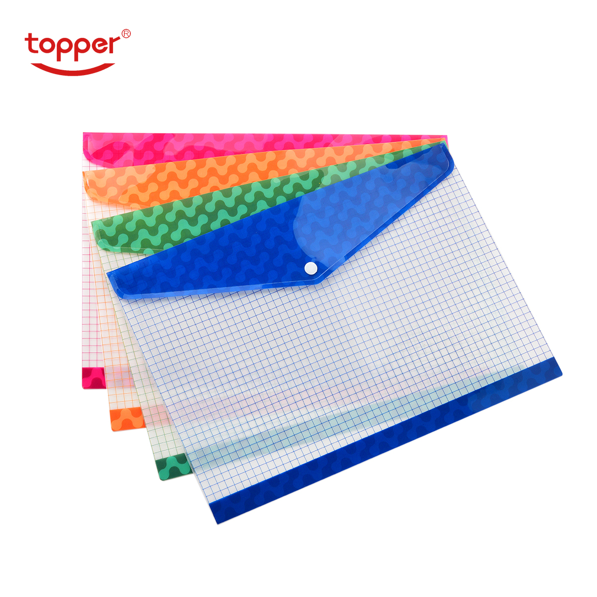 12pcs/set Freeshiping FC/A4 Size Transparent Printed Plastic Document Bag FileFolder Filing Paper Storage Office School Supplies