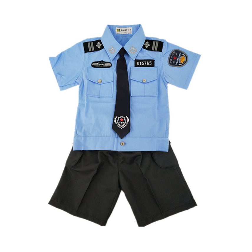 Children Policemen Uniform Carnival Halloween Costumes For Kids Traffic Police Boys Girls Party Cosplay Performance Clothing Home