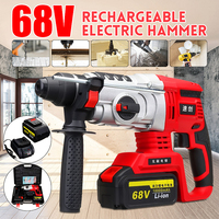 4 funciton In 1 68V/88V Electric Impact Drill Rotary Hammer Brushless Motor Cordless Electric screwdriver+Electric hammer&Drill