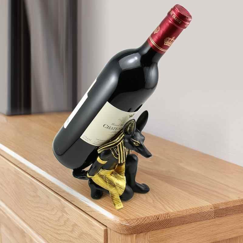 Soporte de estante de vino Retro resina soporte de vino tinto 180x130x80mm Bar de estilo europeo cocina bar Decoración