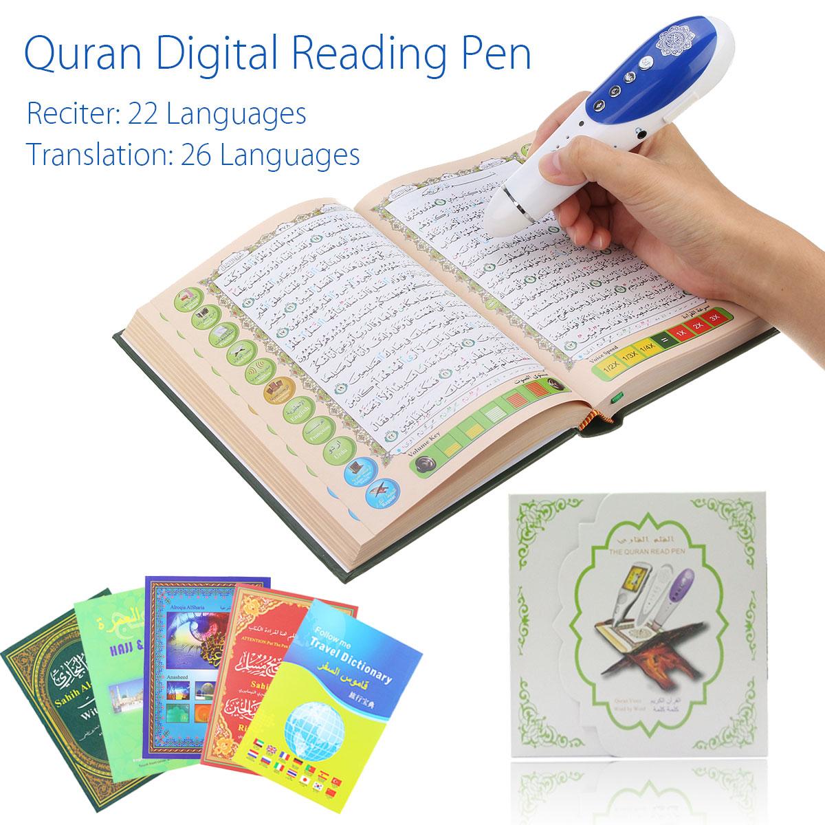 LEORY numérique coran stylo lecteur 8 GB 23 langues numérique coran lecteur stylo haut-parleur récite FM MP3 TF avec 6 livres