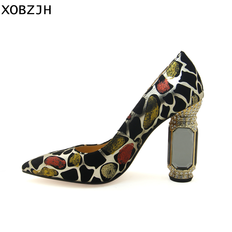 Femmes En Talons 2019 Cuir Véritable De Grande 11 Luxe Mariage Italien Chaussures Hauts Sexy Pompes Dames Strass Taille Femme Multi Mode xZq6S6zFwC