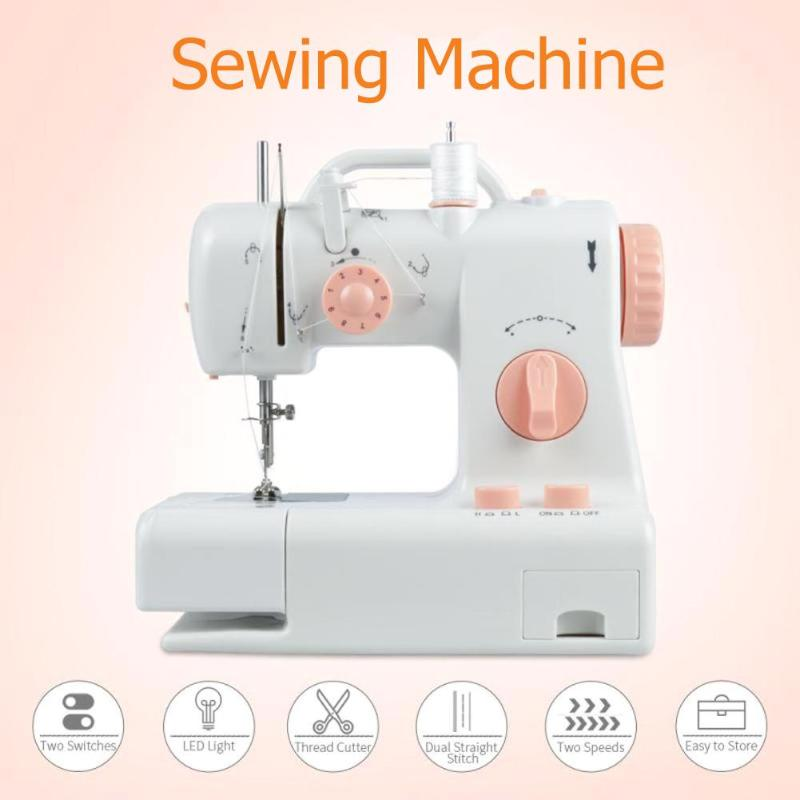 Mini Electric Handheld Sewing Machine Automatic Dual Speed Double Thread Stitching Electric Pedal Sewing Machine