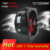 300MM 12 inch Home Bathroom Kitchen Toilet Exhaust Ventilator de techo Fan Hotel Wall Silent Extractor