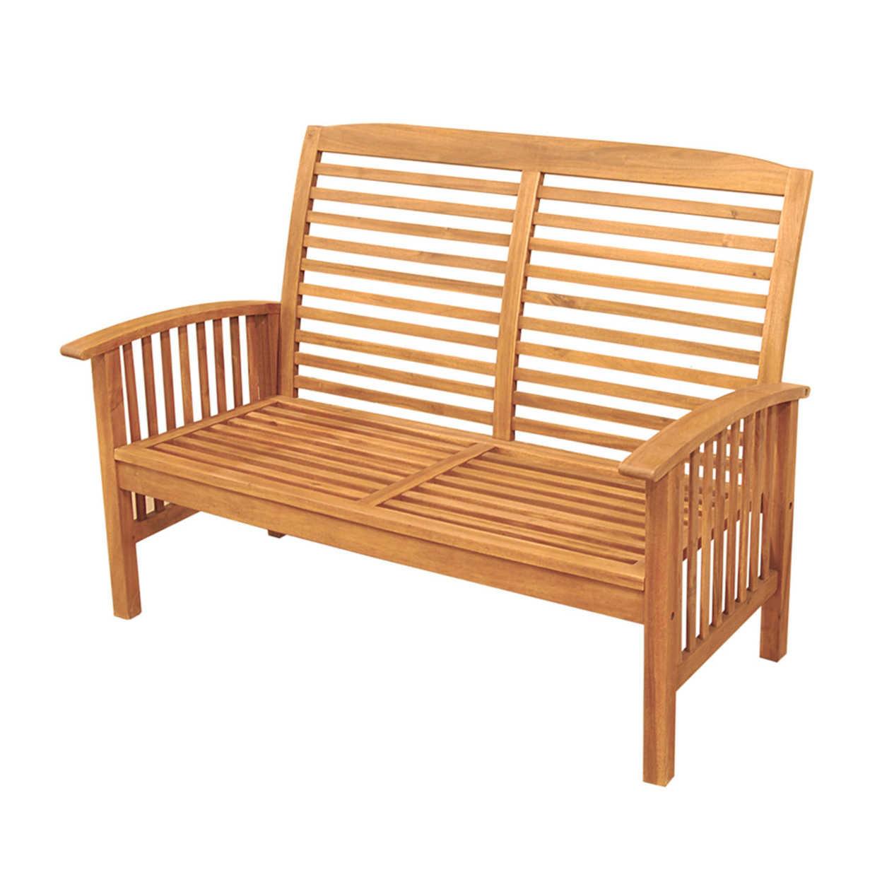 Мы мебель Acacia детский деревянный стульчик Loveseat скамейка