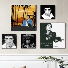 Scarface Movie Figure Artwork Poster And Print Canvas Art Painting Wall Pictures For Living Room Decoration Home Decor No Framed