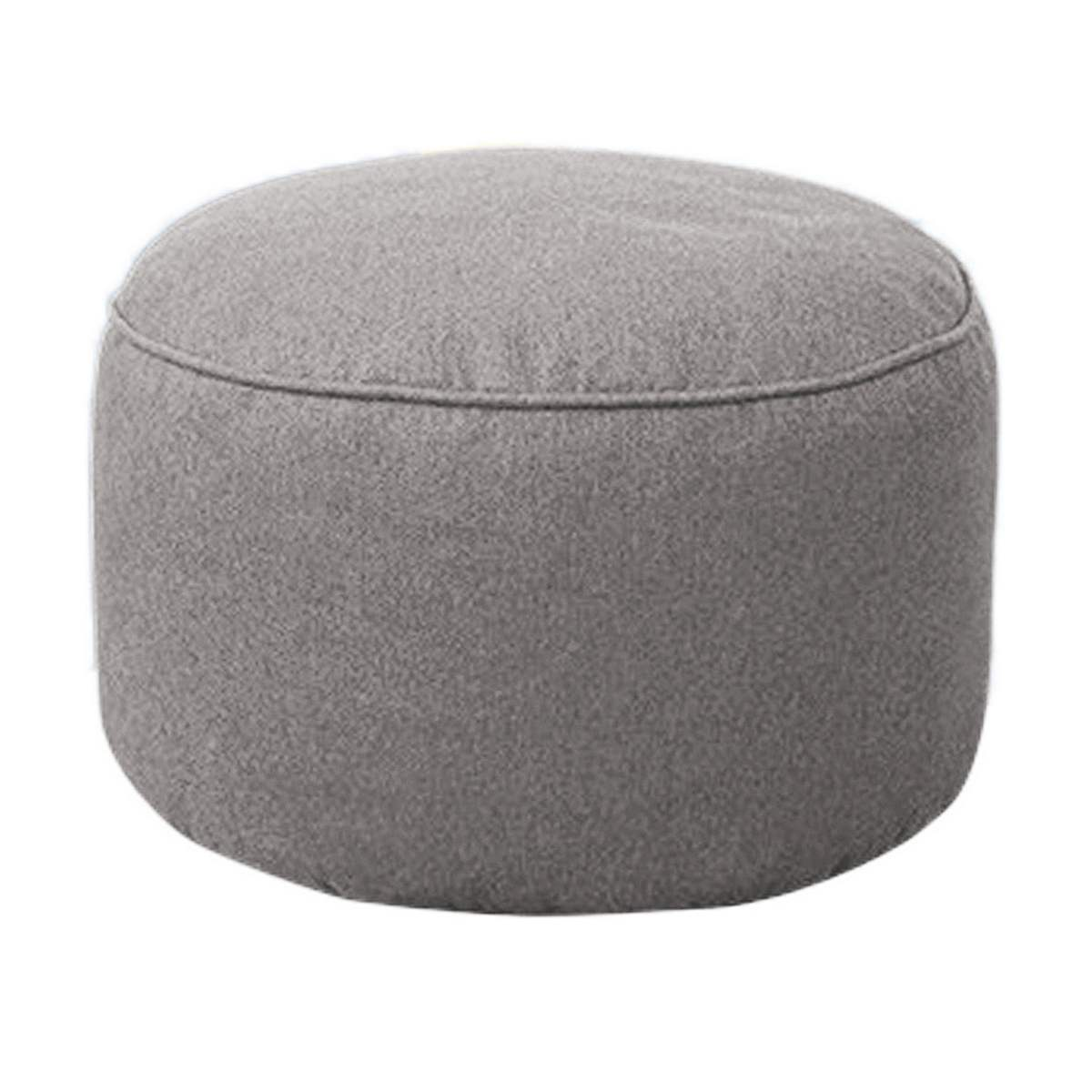 Bean Bag Footstool Us 14 72 8 Off 8 Colors Cotton Stool Cover Home Sofa Round Footstool Soft Bean Bags Sofa Lounger Washable Without Filler For Living Room Table In