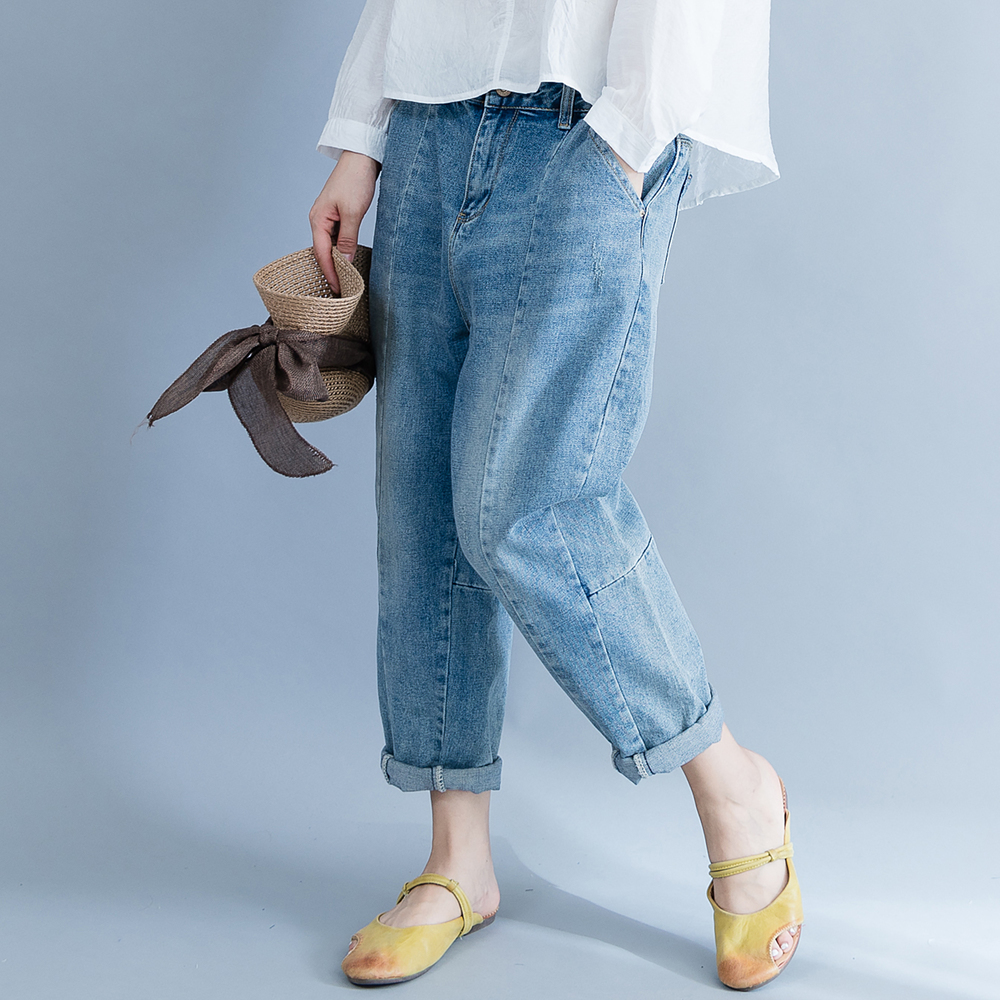 Spring Summer Boyfriend Ripped Jeans For Women Vintage Harem Pants Casual Loose Washed Denim Jeans Vaqueros Mujer