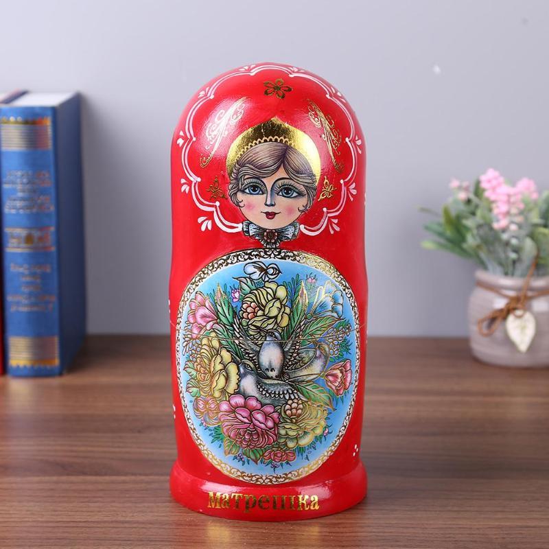 10 couches bébé jouet nidification poupées en bois russe Matryoshka décor nidification coloré poupées en bois russe poupées pour cadeaux d'anniversaire - 4