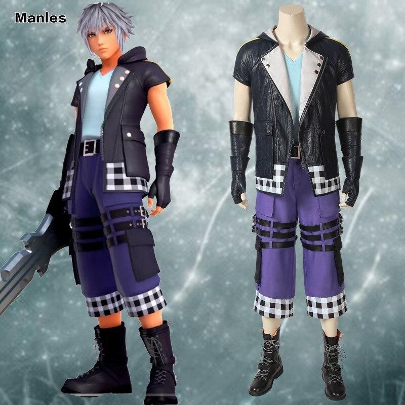 Anime Game Kingdom Hearts 3 Cosplay Riku Costume Shirt Carnival Adult Halloween Custom Made Sweater Jacket