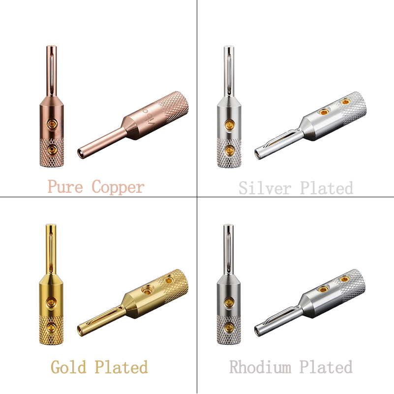 Viborg Hifi Audio Banana Plug Pure Copper Silver/Gold/Rhodium Plated Available VB401 Jack Terminal For 5mm Speaker Wire