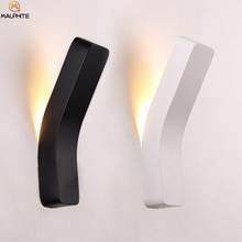 Novel led modern wall lamps LED bedside lamps for home Hotel Corridor wall lamp bedroom industrial decor Lighting fixtures cheap Jaxwang LED Bulbs Wall Mounted 90-260V iron Novelty Black Down Shadeless Metal Painted Kitchen Dining room Bed Room Foyer