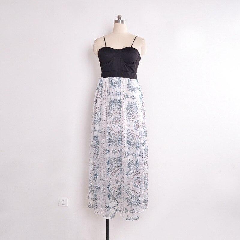 Korean style floral printed elegant dresses 2019 streetwear backless harajuku dress summer maxi dress plus size boho beach dress in Dresses from Women 39 s Clothing