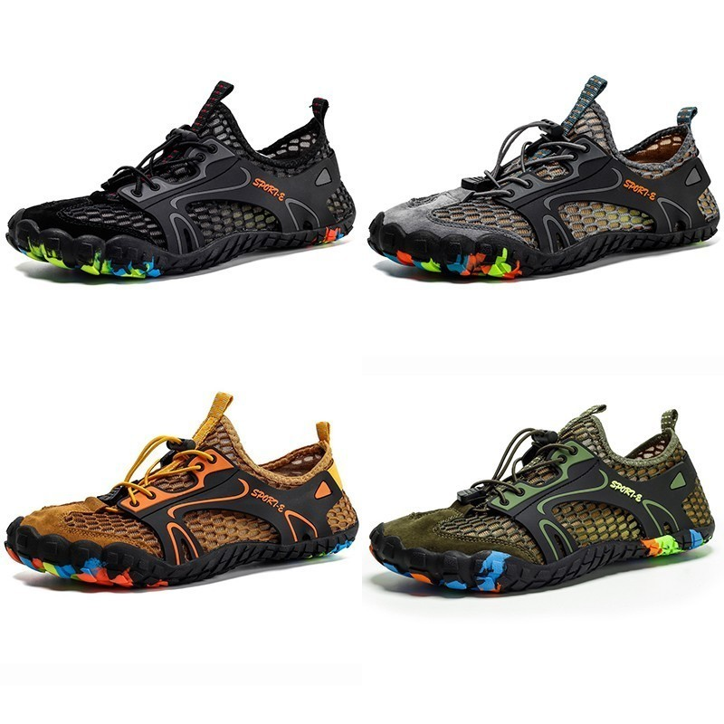 Image 5 - VEAMORS Outdoor Sneakers Non slip Hiking Shoes For Men Women Walking Trekking Sneakers Unisex Breathable Mesh Upstream ShoesHiking Shoes   -