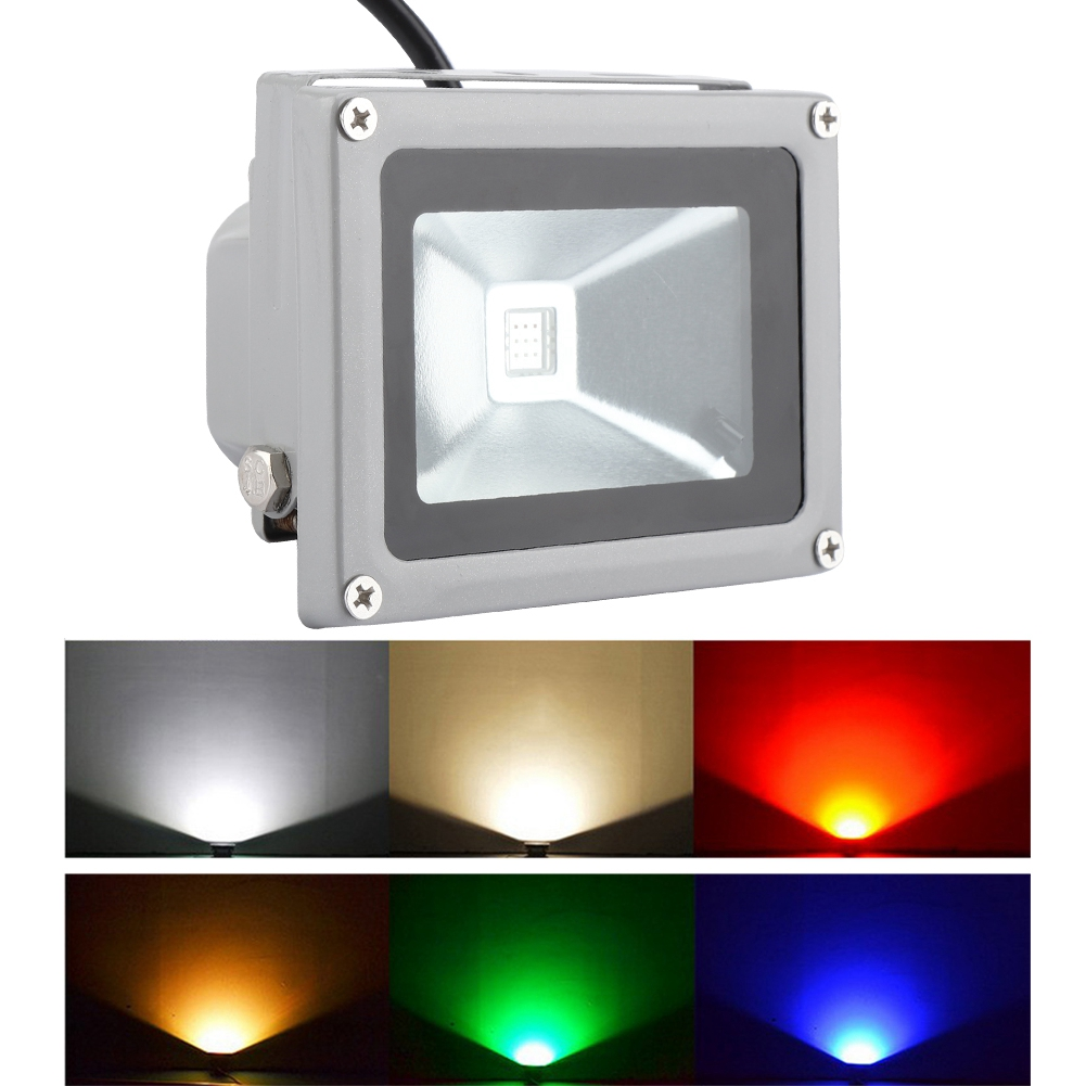 10W RGB LED Colorful Flood Light Spotlight Outdoor with Remote Control Multicolor floodlight