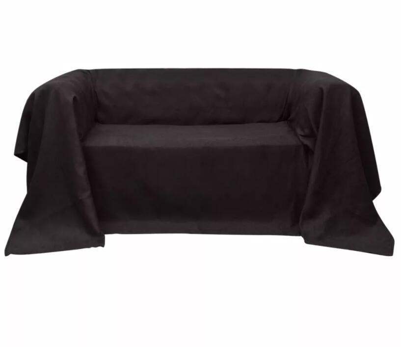 VidaXL Micro-Suede Couch Slipcover Brown 210 X 280 Cm Couch Slipcover Is Designed To Protect Your Couch And Sofa From Stains