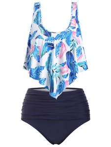 Wipalo Women Plus Size High Waisted Casual Summer Beach 5XL