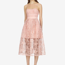 Suit-dress Pink Colour Lace Flower Self-cultivation Dress