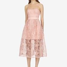 Suit-dress Pink Colour Lace Flower Self-cultivation Dress