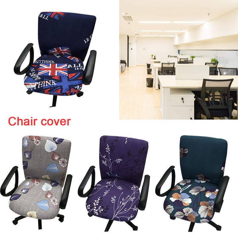Universal Elastic Cotton Fabric Office Computer Chair Cover Task Anti dirty Armchair Protector Slipcove Chair Slipcover in Chair Cover from Home Garden