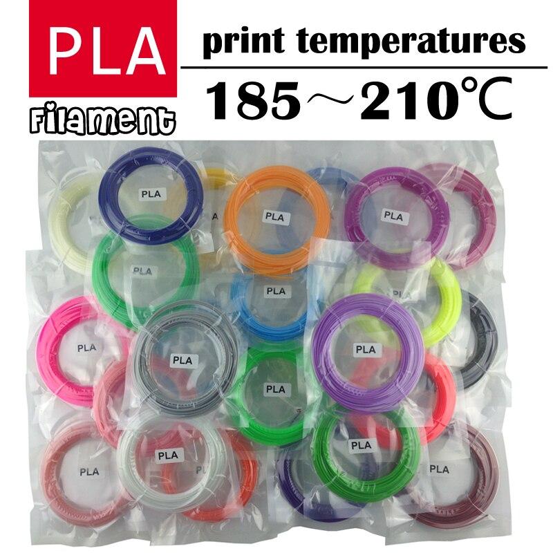 Caneta LIHUACHEN 3d filament PLA 1.75 milímetros 20/30 Cores 3D Filamento Impressora Materiais Para Impressão Caneta 3D 10 cores 3D Material de Impressora