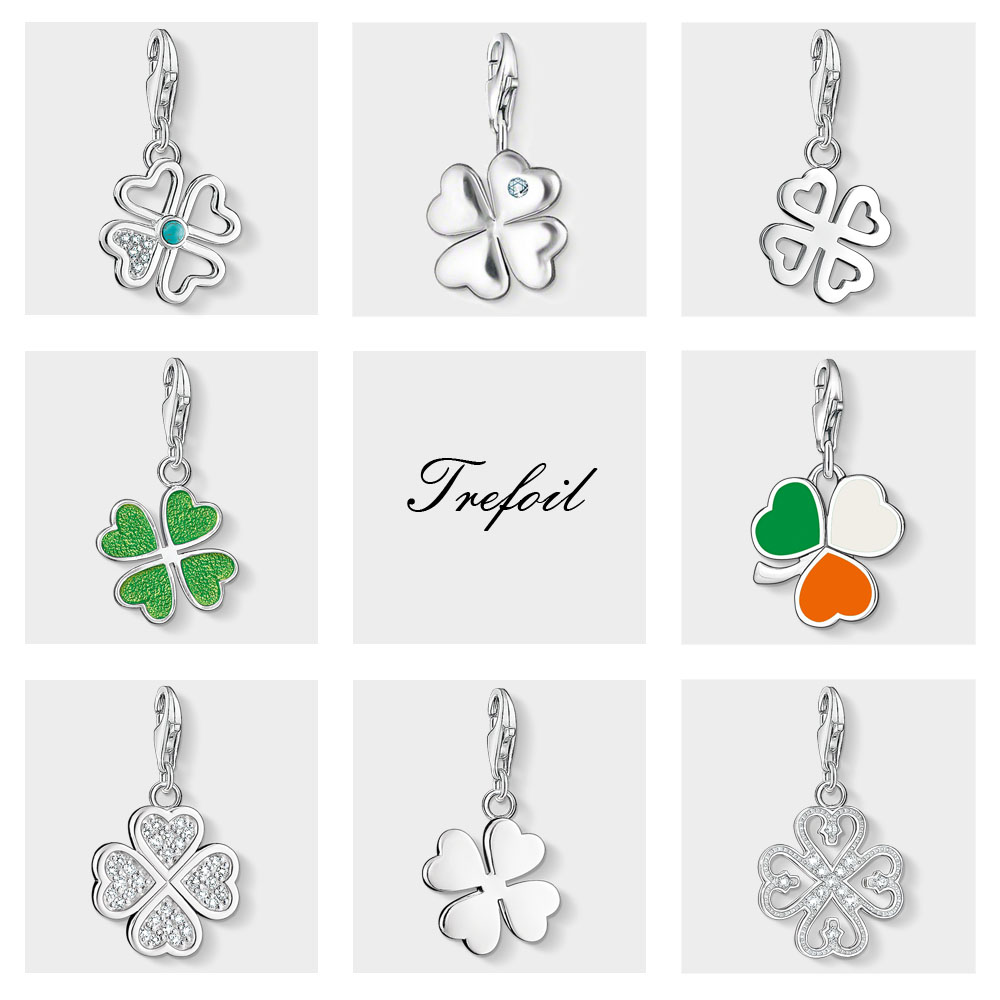 Four Leaf Clover Lucky Charms Pendant,Fashion Jewelry 925 Sterling Silver Trendy Gift For Women Men Fit Bracelet Necklace BagFour Leaf Clover Lucky Charms Pendant,Fashion Jewelry 925 Sterling Silver Trendy Gift For Women Men Fit Bracelet Necklace Bag