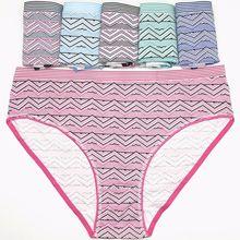 6pcs/lot Plus Size 2XL 3XL 4XL Womens Briefs Straip Women Cotton Panties Underwear for