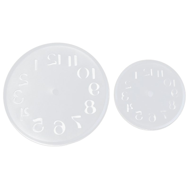 2Pcs Arabic Numerals Silicone Diy Jewelry Mold Pendant Watch Clock Shaped Fondant Cake