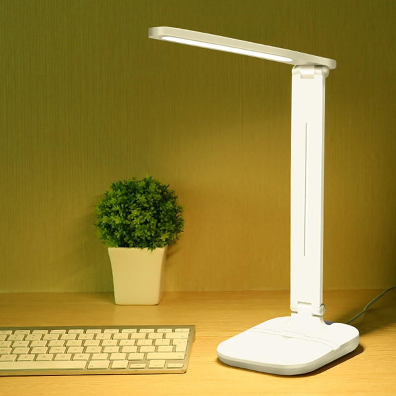 7W 24 LEDs Eye Protect Book Light Stepless Dimmable Foldable LED Table Lamp USB Powered Touch Sensor Control Reading Desk