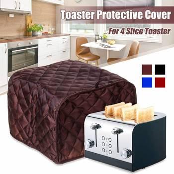 Nowy toster pokrywa kurz pokrywa maszyna do chleba maszyna toster Cover-up dla czterech kromka toster anty pyłu i odcisków palców ochronne pokrywa tanie i dobre opinie Toaster Protective Cover 100 poliester Nowoczesne 28*29*19cm