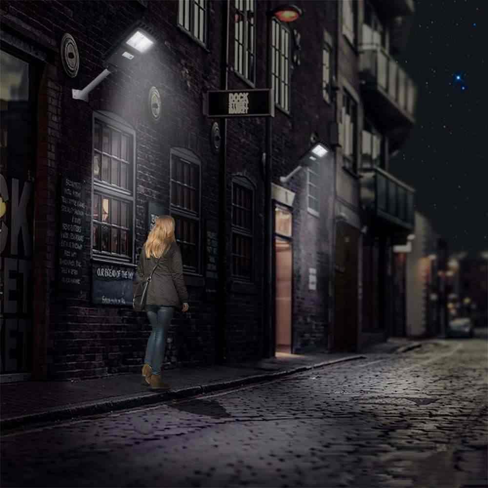 30/60 Вт 80/160 светодиодный s светодиодный солнечный лампа на солнечных батареях Водонепроницаемый открытый движения PIR Сенсор сад настенный светильник уличный фонарь черный/серый в виде ракушки