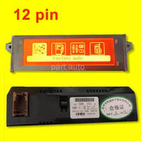 1x Original Red Screen support French USB Bluetooth Display Monitor 12pin for Peugeot 307 207 408 citroen C4 C5 Screen