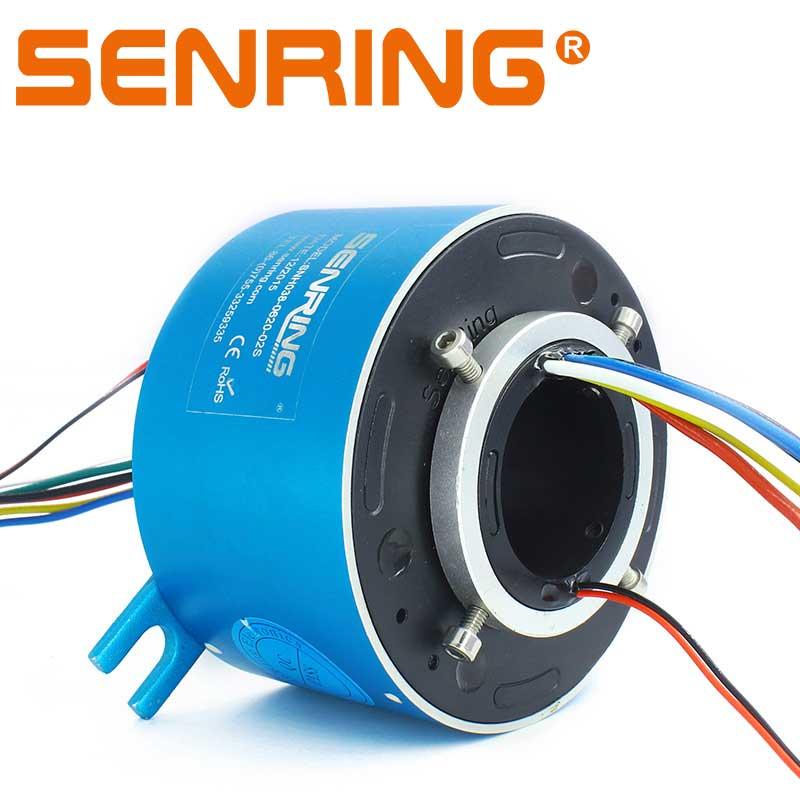 Электрические вращающиеся соединения 6 цепей 20A ток 2 провода 2A данных проводящий скольжения кольцо 38,1 мм Размер отверстия для сквозного отв